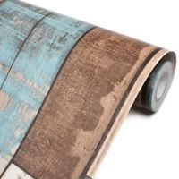 3D Wallpaper Vinyl Wood Grain Self Adhesive Furniture Wall Stickers Decor 19.7'