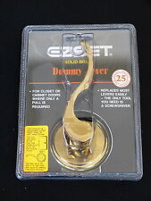 BRAND NEW & Sealed-EZ SET Solid Brass Dummy Lever, Curved Handle, Exp. Shipping