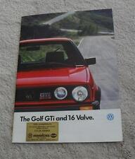 Volkswagen VW Golf GTI & GTI 16 Valve 1.8 16v Mk2 Brochure - January 1987