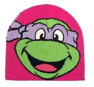 NWT - Teenage Mutant Ninja Turtles TMNT Donatello Beanie Hat - Pink - Youth OSFM