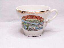 Vintage Toronto Canada White W/Gold Rim Souvenir Tea Cup