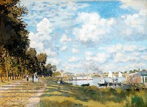 Bassin d'Argenteuil by Claude Monet A1+ High Quality Art Print