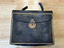 "Vintage Masonic Regalia Pouch, ""COMPN T. W.  MC ANALLY ANERLEY CHAPTER NO. 1397"""