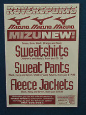 Tranmere Rovers Merchandise Catalogue Price List - Mizuno 1997/98 - 4 pages