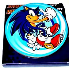 NEW Sega Sonic the Hedgehog 20th Anniversary Coasters 4 Pack Cork Backed 4x4