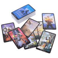 78 cartas Mazo de tarot de bruja Indicador de destino futuro pronóstico regalo
