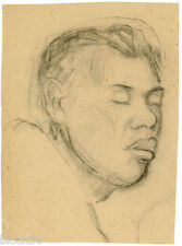 FACE OF SLEEPING YOUNG MAN by unknown Russian artist
