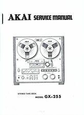 Akai  service manual  für GX- 255 Copy