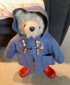 Vintage 19 Inch Paddington Bear England Plush Teddy Bear
