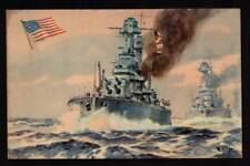 U.S.A MILITARIA POSTCARD WAR NAVY MARINE BATTLESHIP WEST VIRGINIA