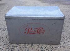 Authentic Vintage Metal Pepsi Cola Cooler / Trunk / Chest - UNRESTORED ORIGINAL