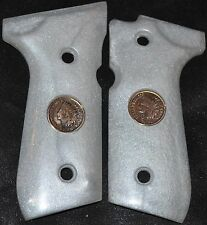 Beretta 92FS Pistol Grips pearl white plastic with indian head pennies