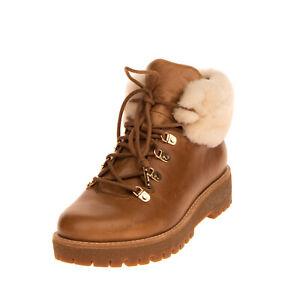 RRP €320 MICHAEL MICHAEL KORS PUTNAM Leather Hiking Style Boots EU 40 UK 7 US 9