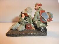 y Massefigur Lineol Elastolin Figur Wehrmacht 2. Wk Soldaten Nachrichtentrupp