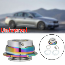 Silver Car Great Steering Wheel Quick Release Hub Adapter Snap Off Boss