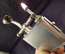 Dunhill Unique PIPE Petrol Lighter - Silver Plated - Barley - Feuerzeug/Briquet