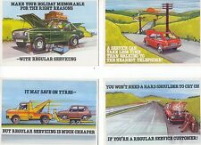 Castrol Publicity 4 different cards as one lot