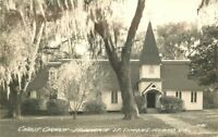 Christ Church Fredrica St Simons Islands Georgia 1930s RPPC real photo 10999