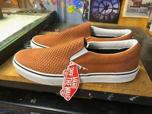 Vans Classic Slip On Embossed Suede Sequoia Brown  Size US 10.5 Men  Rare