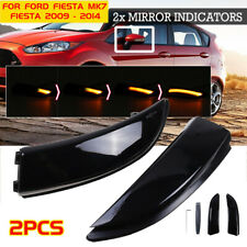 2X DYNAMIC LED SIDE DOOR WING MIRROR INDICATORS LIGHT FOR FORD FIESTA MK7 UK