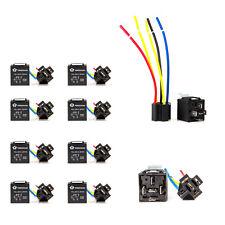 10pcs 12V 30/40 Amp SPDT Relay + Wire Harness Socket For Car Alarm Truck Release