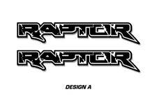 "Ford F150 48"" x 9.5"" RAPTOR Truck Bed Graphic Decal Stickers 2009-2016 BLACK"