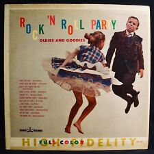 ROCK 'N ROLL PARTY-Oldies And Goodies-Rare 1956 Compilation Album-CROWN #5227