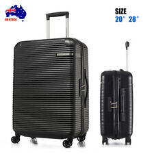ABS 2 Pcs Luggage Set Expandable Spinner Travel Suitcase Light Weight Cabin Bag