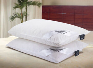 Best Goose Down Pillows Anti-Allergy Filled With Extra Duck Feathers pack 1,2 &4