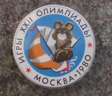1980 Moscow Russia Summer Olympic Games Sailing Yachting Boat Misha Pin Badge