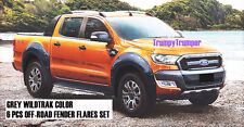 GREY WILDTRAK OFF-ROAD FENDER FLARES FORD NEW RANGER MK2 PX2 2015 2016 2017 K