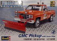 Revell 85-7222 GMC Pickup w/ Snow Plow 1/24 Scale Plastic Model Truck Kit