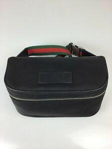 New Gucci 630920 Black Techno Canvas Belt Bag
