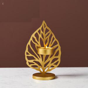 Romantic Iron Art Candlestick Gold Base Candle Holder Party Dinner Desktop Decor