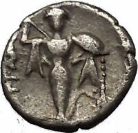 PERGAMON in MYSIA 330BC Hercules Athena Genuine Ancient Silver Greek Coin i53335