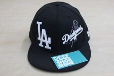 NEW ERA MLB LOS ANGELES DODGERS LOGO FITTED HAT BLACK BOX 7 1/2 CAP