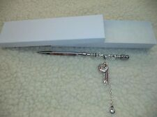 CRYSTAL PEACE & FEATHER BEADED LETTER OPENER - ONE OF A KIND!