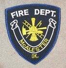 """McAlester Fire Dept Patch -  Oklahoma - 4"""" x 4 3/8"""""""