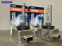 2PCS NEW OEM OSRAM XENARC D1S 66144 66140 6000K HID XENON LIGHT BULBS SET
