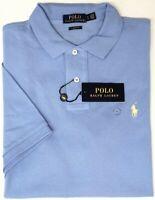 NEW $89 Polo Ralph Lauren Short Sleeve Classic Fit Shirt Mens Light Blue Mesh