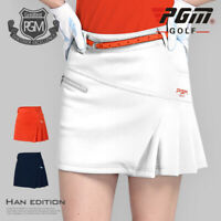 PGM Women Golf Skirt Breathable Pleated Golf Tennis Skorts Summer Mini Dresses