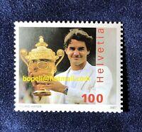 Switzerland FDC CHF 1 Franken Franc stamp 2007 Roger Federer Suiza Suizo