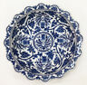 "DECORATIVE BOWL - ""CHIANG MAI"" SHALLOW CENTERPIECE BOWL - BLUE & WHITE PORCELAIN"