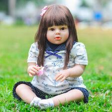 "28"" toddler Arianna Tatiana straight hair boneca  silicone bebe reborn doll"