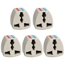 5Pcs New UK/EU/AU/FR EURO To US USA Power Converter Adapter Adaptor 2 Pin Plug