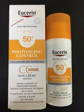 4x EUCERIN SUN PHOTOAGING CONTROL CC CREAM SPF50+ 50ML WITH HYALURONIC ACID
