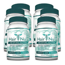 HairNu - Natural Hair Loss Treatment - Fast Hair Growth   (6 Bottles)
