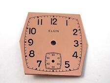 Elgin Copper 21.62mm by 21.62mm Watch Dial Vintage Mens Black Numeral Markrs NOS