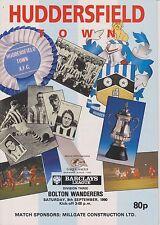 Bolton Wanderers Huddersfield Town V 90-91 partido de Liga
