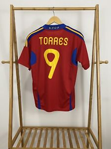 Fernando Torres Adidas  2010 Spain Fifa World Cup Champion Jersey Size S